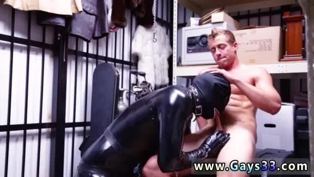 Old men group gay sex young boy Dungeon master with a gimp