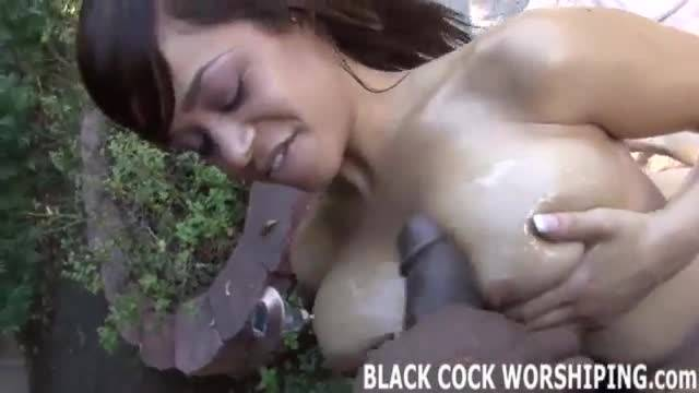 Big black dick in wet black pussy
